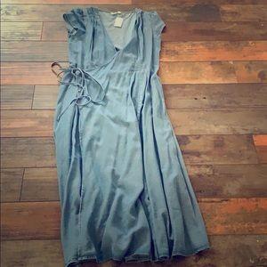 Gap Light Denim wrap dress